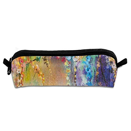 Pen Case Unisex,Abstract Herbs Weeds Alternative,Durable Student Stationery,Used For Study,School,Travel