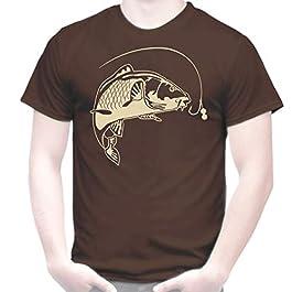 TOUTISHIRT T-Shirt Pêche à la Carpe, Carpiste Pêcheur