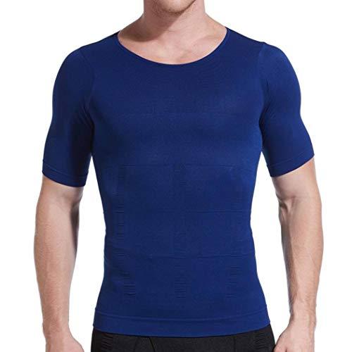 KAZOGU Abnehmen des Körperformer-Bauch-Unterleibs der Kompressions-Hemd-Männer für Bauch-Kontrollkörper, der fetten Brenner errichtet