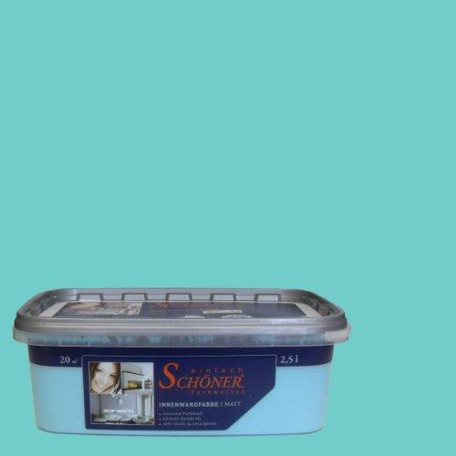 Wilckens Wandfarbe einfach Schöner Farbwelten, 2,5 L, karibisch türkis 13751826080