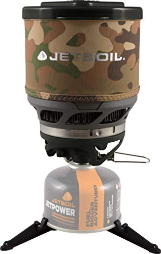 Jetboil MiniMo Camping and Backpacking Stove Cooking System, Camo Brown