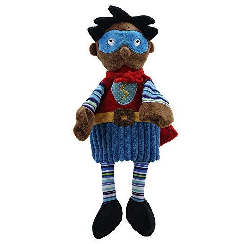 The Puppet Company Tono Oscuro De Piel Super Héroe Cuenta Marioneta de Mano
