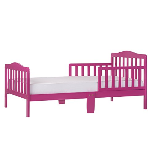Dream On Me, Classic Design Toddler Bed in Fuchsia Pink, Greenguard Gold Certified