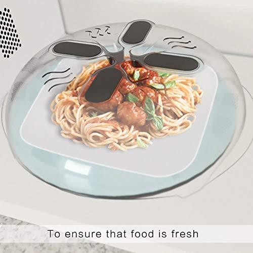 GLX 2 Stück Ofen Hover Abdeckung Spritzwasserschutz Anti-Überlaufabdeckung Magnet Kühlschrank Abdeckung Kunststoff Heizhaube (11,8 Inch) Mikrowellen