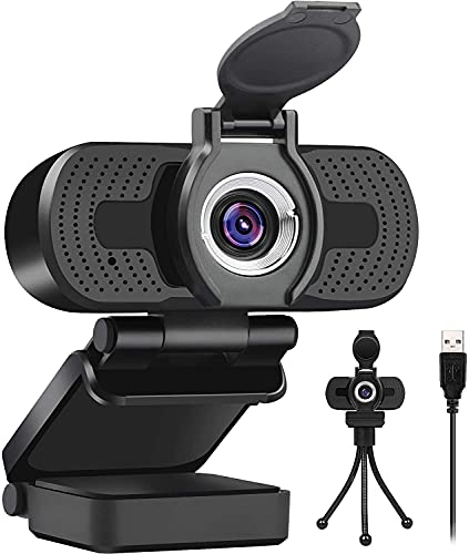 Webcam For PC With Microphone 2021 1080p HD Streaming Web Cam Camera Added Cover & Tripod Voip Youtube Equipment Streaming Gaming For Laptop Computer Facebook Usb
