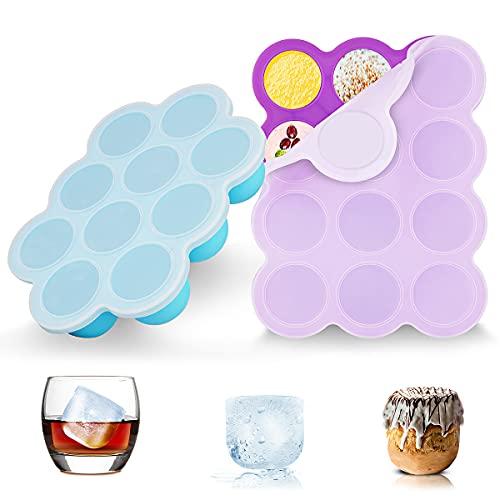 ZOUNICH Silikon Babynahrung Aufbewahrung Behälter, Silikon Babybrei Einfrieren mit Silikondeckel...