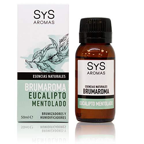 S&S Cosmética Natural Esencia Brumaroma SyS 50 ml Eucalipto Mentolado. Aromaterapia para Humidificador y Difusor Aroma SPA,