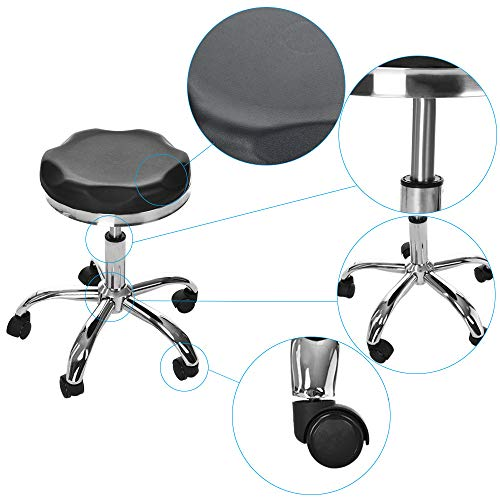 Hydraulic Salon Stool Adjustable Metal Chair Beauty Salon Work Bench Bar Chair Support for Man Women