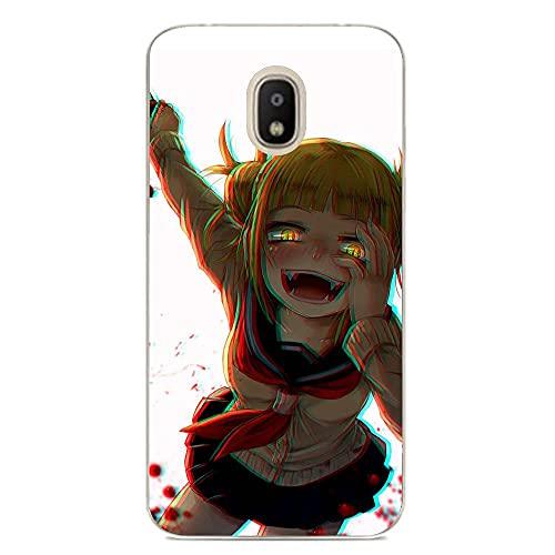 HOOLUCN Clear Coque - Carcasa para Samsung Galaxy J3 2018, diseño de anime My Hero-Academia Himiko-Toga 4