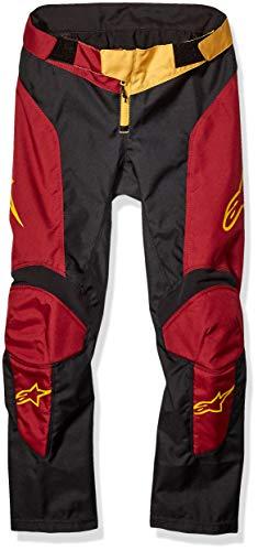 Alpinestars - Lange Radsport-Hosen für Jungen in Anthrazit Maroon Ocker, Größe 28