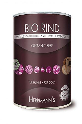 6er Pack Herrmanns Bio Rind mit Süßkartoffeln und Kürbis 800g