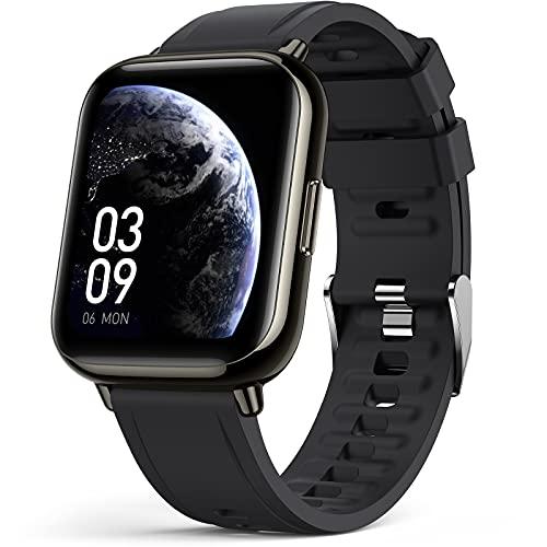 AGPTEK Smartwatch Uomo Donna, Orologio Fitness Digitale, Smart Watch Android iOS da 1,69', Activity Tracker Sportivo, Contapassi Polso Uomo, Orologio Smartwatch IP68, Cardiofrequenzimetro, Calorie
