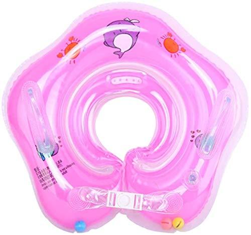 Salvagente Collo Neonato - Regolabile Galleggiante Gonfiabile del Collo di Nuoto dell'infante per 1-18 Mesi Baby (Rossa)