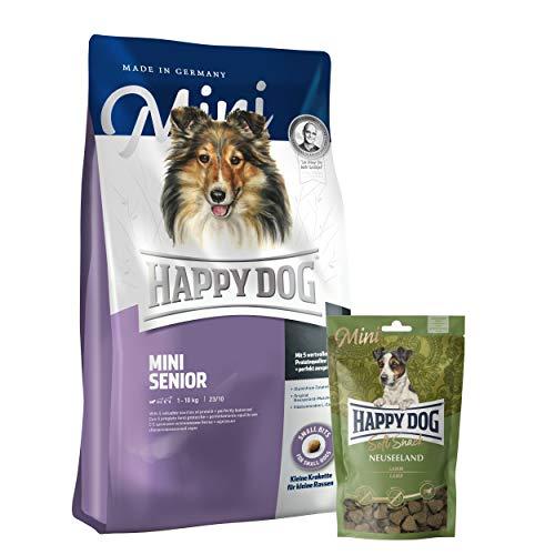 Happy Dog Mini Senior 4 kg + 1 x Softsnack Mini Neuseeland (Lamm) 100 g