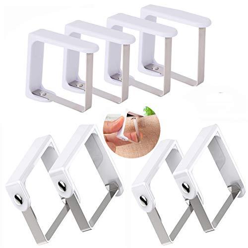 TTOOP Tischtuchklammern,8 Stück Garten Tischdeckenhalter Tischtuchhalter Tischdeckenklammer Tischtuch Clips Geeignet für Desktop Zum Klammer Befestigen der Tischdecke