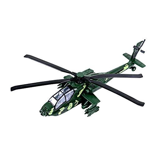 YIJIAOYUN 11.2 'Tirare Indietro Il Giocattolo per Elicottero Militare con luci e Suono Aereo Militare per Bambini Bambini