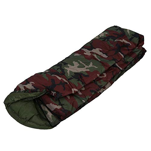 Sac de couchage de camping en coton, 15 ℃ ~ 5 ℃, style enveloppe, sac de couchage Nemo (couleur : vert armée)