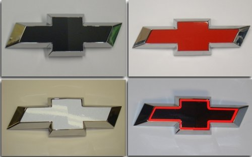 Reflective Concepts Rear Bowtie Emblem Overlay Decal - 2010-2013 Camaro LS, LT, RS, SS