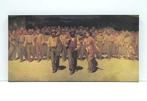 BaikalGallery Lienzo EL Cuarto Estado - Giuseppe Pellizza DA VOLPEDO 1901- (P2493)- Impreso EN Canvas DE ALGODÓN DE 320 GR (60x120cm)