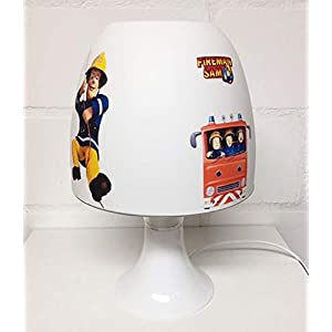 ✿ Tischlampe ✿ FEUERWEHRMANN Feuerwehr SAM personalisiert mit oder ohne Name ✿ Tischleuchte ✿ Schlummerlicht…