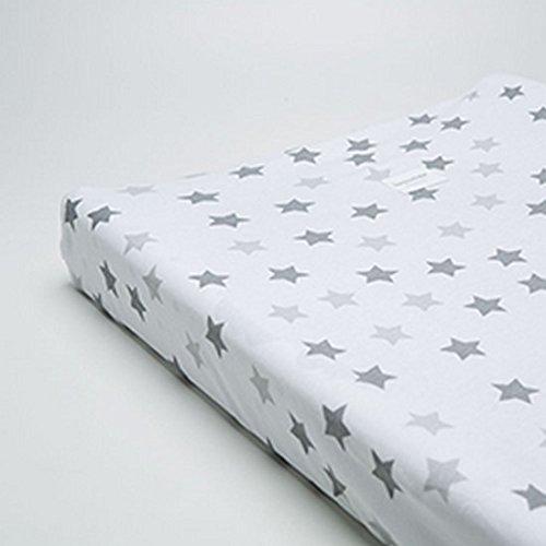 Bonjour Bebé Pima aankleedkussen, 50 x 70/80 cm, wit