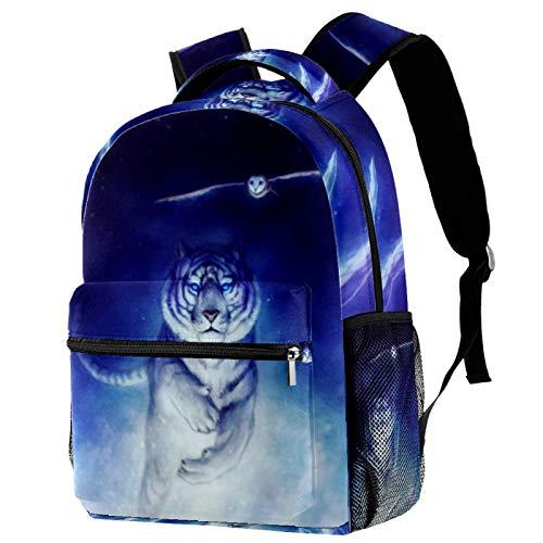 12' Bookbag Casual Hiking Daypack Travel Laptop Backpack Anti-Theft Bag Backpacks for Women Men College School Student ,Tiger Owl