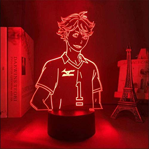 Haikyuu ToRU OIKAWALED 3D Night Light,Kids Night Lights 16 Colors Auto Changing Touch Switch Desk Decoration Lamps Birthday Gift with Remote Control