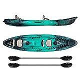 Vibe Kayaks Skipjack 120T 12 Foot Tandem Angler and Recreational Two...