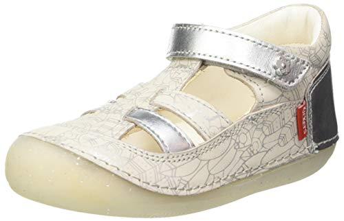 Kickers SUSHY, Zapatos Planos Mary Jane Unisex bebé, Plata Ethnic 163, 21 EU