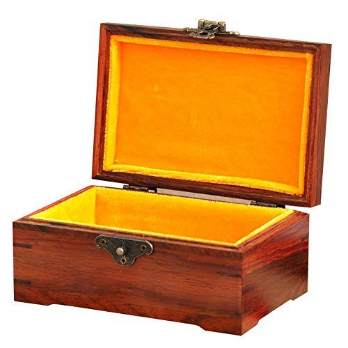 EIU Joyero Caja De Madera Grande Rectangular Pequeña Caja