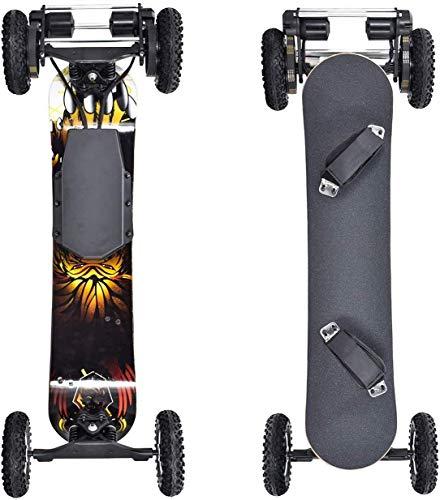 BJCNX Skateboards Offroad Elektrisches Skateboard 40 MPH Höchstgeschwindigkeit 1660W * 2 Motor mit kabelloser Fernbedienung Kompletter Cruiser für Erwachsene und Jugendliche