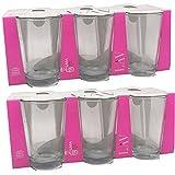 LAV – Pack de 12 vasos tipo lara ,con medidas de 6.5 x 9.8 cm, con capacidad de 205 ml ideal para agua, de gran durabilidad y resistencia, aptos para lavavajillas(LARA 205 ML/12 unidades)