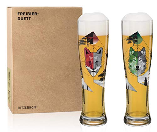 RITZENHOFF 6020001 Freibier-Duett Weizenbiergläser-Set, Glas, 646 milliliters