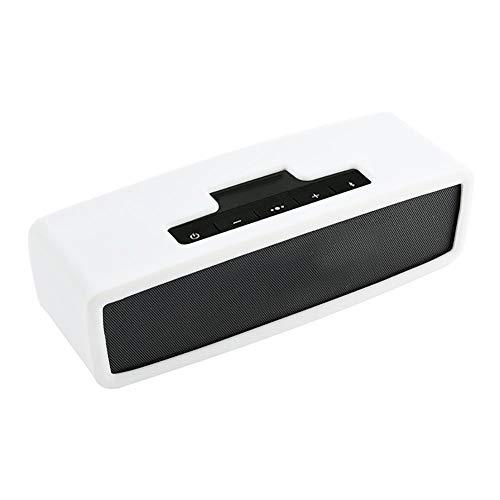 Funda protectora de silicona suave para altavoz Bose Soundlink Mini I/II-Blanco