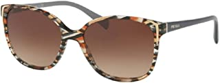 Prada PR01OS CONCEPTUAL Square Sunglasses For Women+FREE Complimentary Eyewear Care Kit