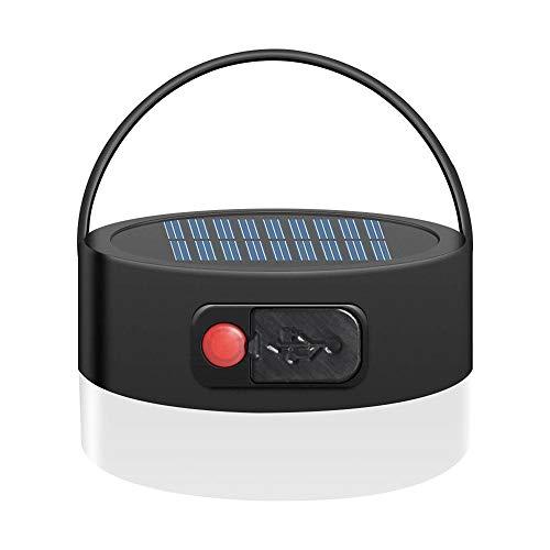AZHUI Solar-bewegliches geführtes Camping Lichter USB aufladbare Notleuchte mit 4 Beleuchtung Modi for kampierende wandernde Fischen, Stromausfall, Notfall