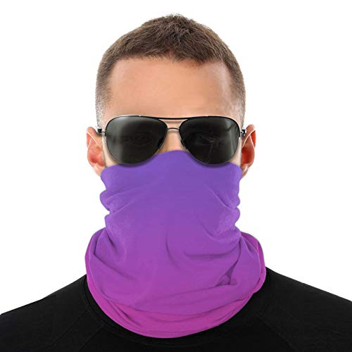 Pink To Purple Color Gradual Change Safety Face Cover Neck Gaiter Bandana Multi Headwear Face Scarf
