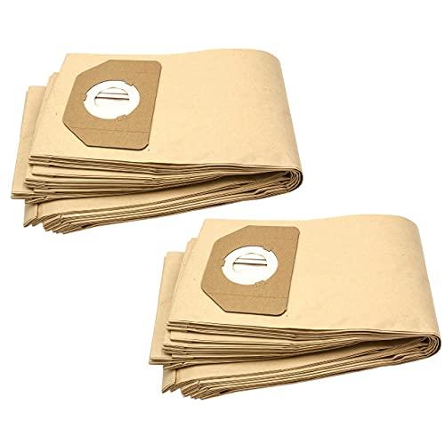 vhbw 20x bolsa compatible con Parkside (Lidl) PAS500B1, PNTS 1250, PNTS1300, PNTS1300/A1, PNTS1400 aspiradora - papel, marrón