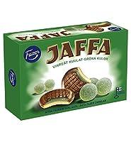 Fazer Jaffa ファッツェル ヤッファ グリーンゼリー チョコレート 6 箱 x 300gセット フィンランドのチョコレートです [並行輸入品]