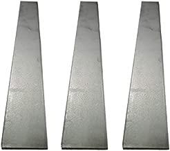 AbbottoKaylan Knife Blade Steel Knife Blanks- High Carbon Annealed, 1095 Knife Making Billets,1.57 Inch x 12 Inch x 0.187 Inch, 3 Pack