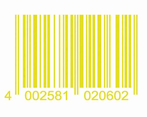 Foliatec 33915 Car Design Sticker Code, Maße 24 x 37 cm, Neon Gelb