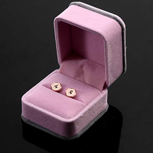 Jotizen 18K White Gold Plated Earring Backs Rose Gold Earring Posts Backs Locking Safety Secure Replacement Sterling Silver Flat Stud Hypoallergenic Earring Backs 2 Pairs 4pcs