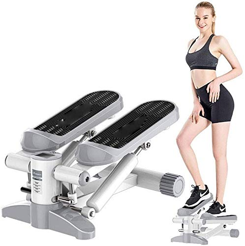 RVTYR Mini Fitness Hydraulic Stepper, Männer und Frauen Stepper Cardio-Training Trainer, Monitor und Widerstandsbänder Stepper Übungen Ausrüstung kettler Mini Stepper (Color : Grey)