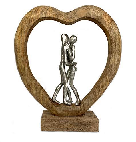 Moritz Skulptur Couple in Love Herz Liebe 32 x 9 x 35 cm Liebespaar Päarchen Verliebt Sein schöne Deko Figur Dekoration Herzenssache Figur