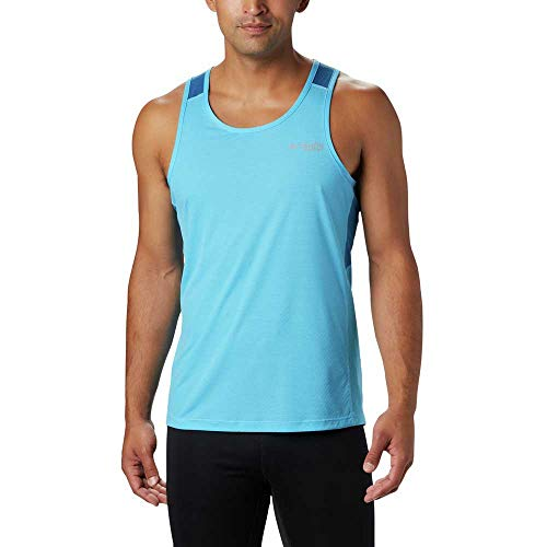 Columbia Camiseta de Tirantes para Hombre Titan Ultra Running, Hombre, 1839791, Riptide,...