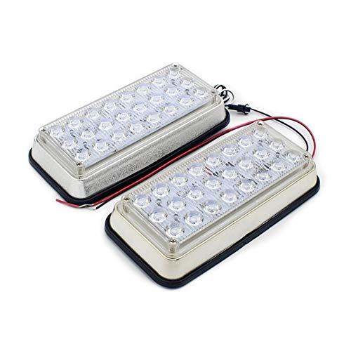QCLU 2 en 1 Luz Estroboscópica LED Luz de Advertencia Rectangular Caja de Centinela Lámpara de Flash de Emergencia Flash Alternativo for Seguridad de Techo de Remolque, 8 Pulgadas 12V