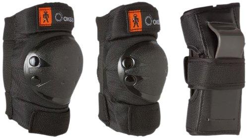 Kinder Inliner Inlineskates Schützer Protektoren SET SCHWARZ 6 tlg. Arm,-Bein- und Ellenbogenschützer Gr. XS von 25KG bis 50KG