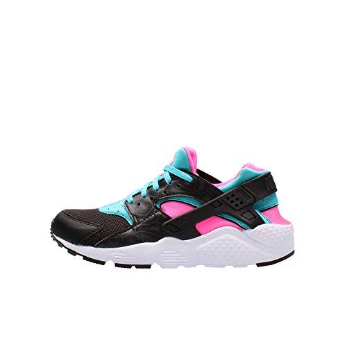 Nike Huarache Run (GS), Zapatillas de Running Mujer, Negro (Negro (Black/White-Pink Blast-GMM Bl), 38.5 EU