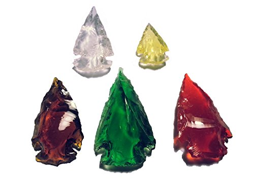 5 Puntas de Flecha de Cristal Multicolor.