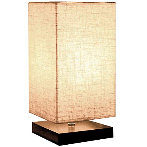 Voroly Home Bedside Night Light Lamp for Bedroom Study Room Decorative Shade Fabric (40W Max, E27 Lamp Port)
